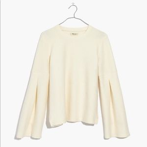 Madewell Pleat-Sleeve Ribbed Top